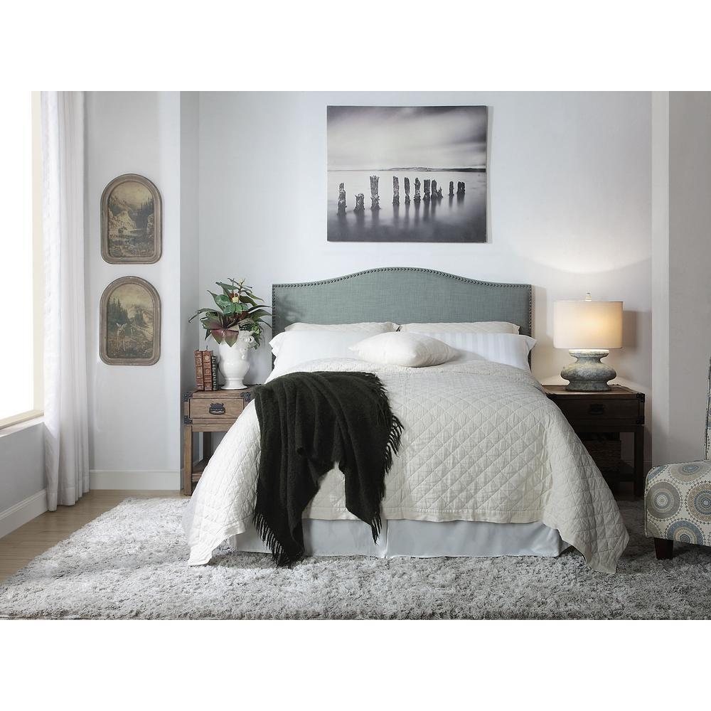 Modus Furniture Ariana Blue Bluebird Linen Storage Bed Hidden Footboard Drawers 17491