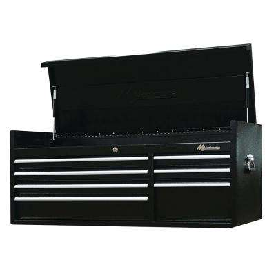 56 in. 7-Drawer Tool Chest Black Powder Coated