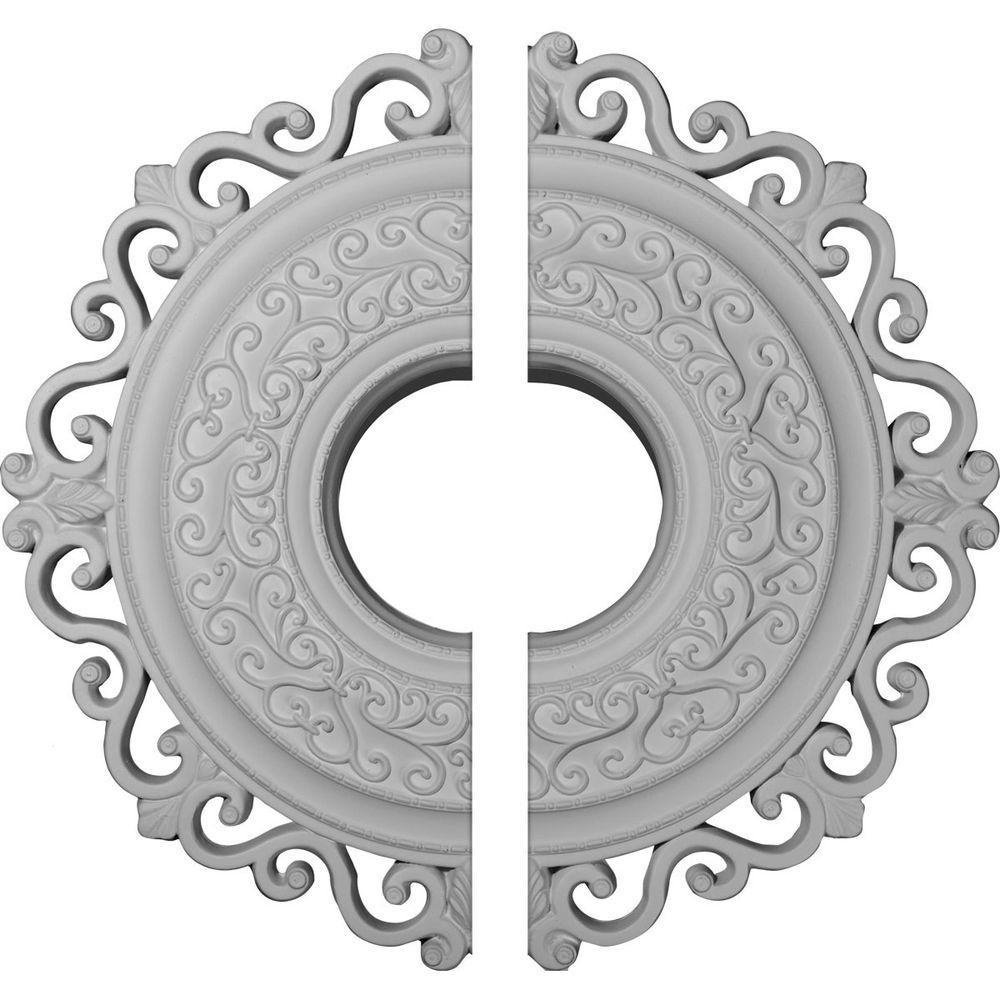 22 in. O.D. x 6-1/4 in. I.D. x 1-3/4 in. P Orrington Ceiling Medallion (2-Piece)