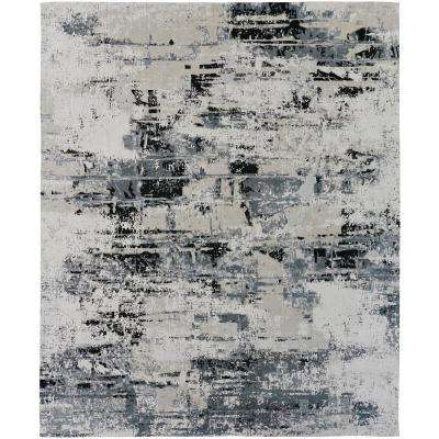 Jardin Sand/Steel 8 ft. x 10 ft. Area Rug