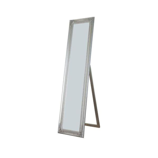 Oversized Rectangle Silver Modern Mirror (63 in. H x 1.9 in. W)