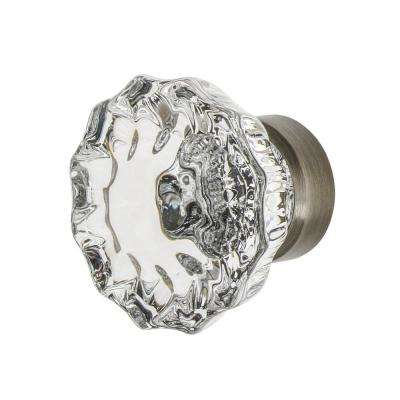Crystal 1-3/8 in. Cabinet Knob in Antique Pewter
