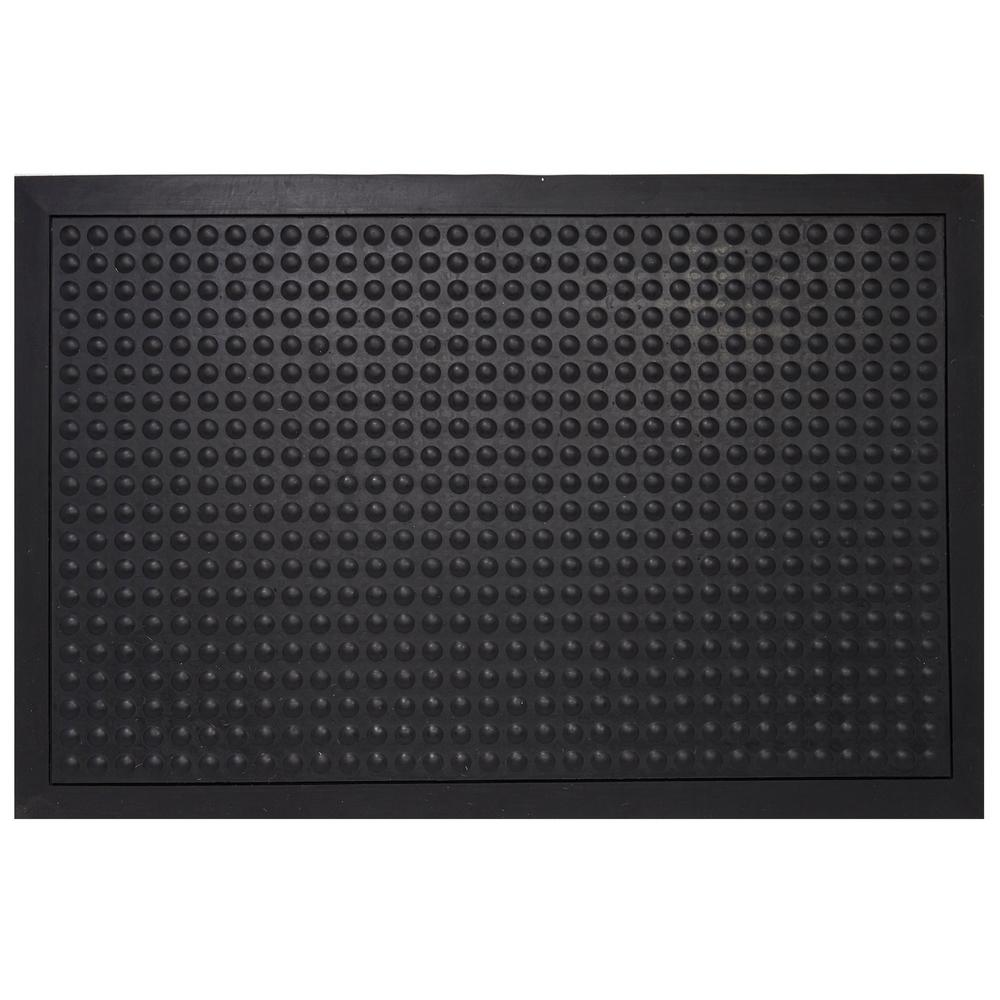 Rubber Floor Mat >> Envelor Black Durable Bubble Surface Anti Fatigue Scraper 36 In X