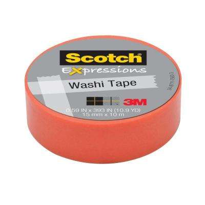 Scotch 0.59 in. x 10.9 yds. Pink Pastel Solid Expressions Washi Tape (Case of 36)