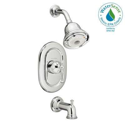 Quentin FloWise Pressure Balance 1-Handle Tub and Shower Faucet Trim Kit in Polished Chrome (Valve Sold Separately)