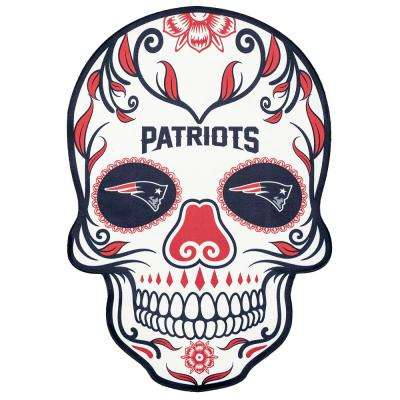 NFL New England Patriots Outdoor Skull Graphic- Small