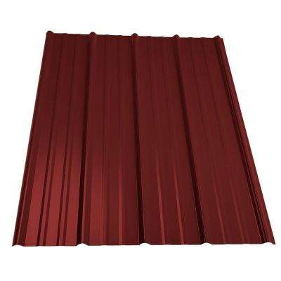 14 ft. Classic Rib Steel Roof Panel in Red