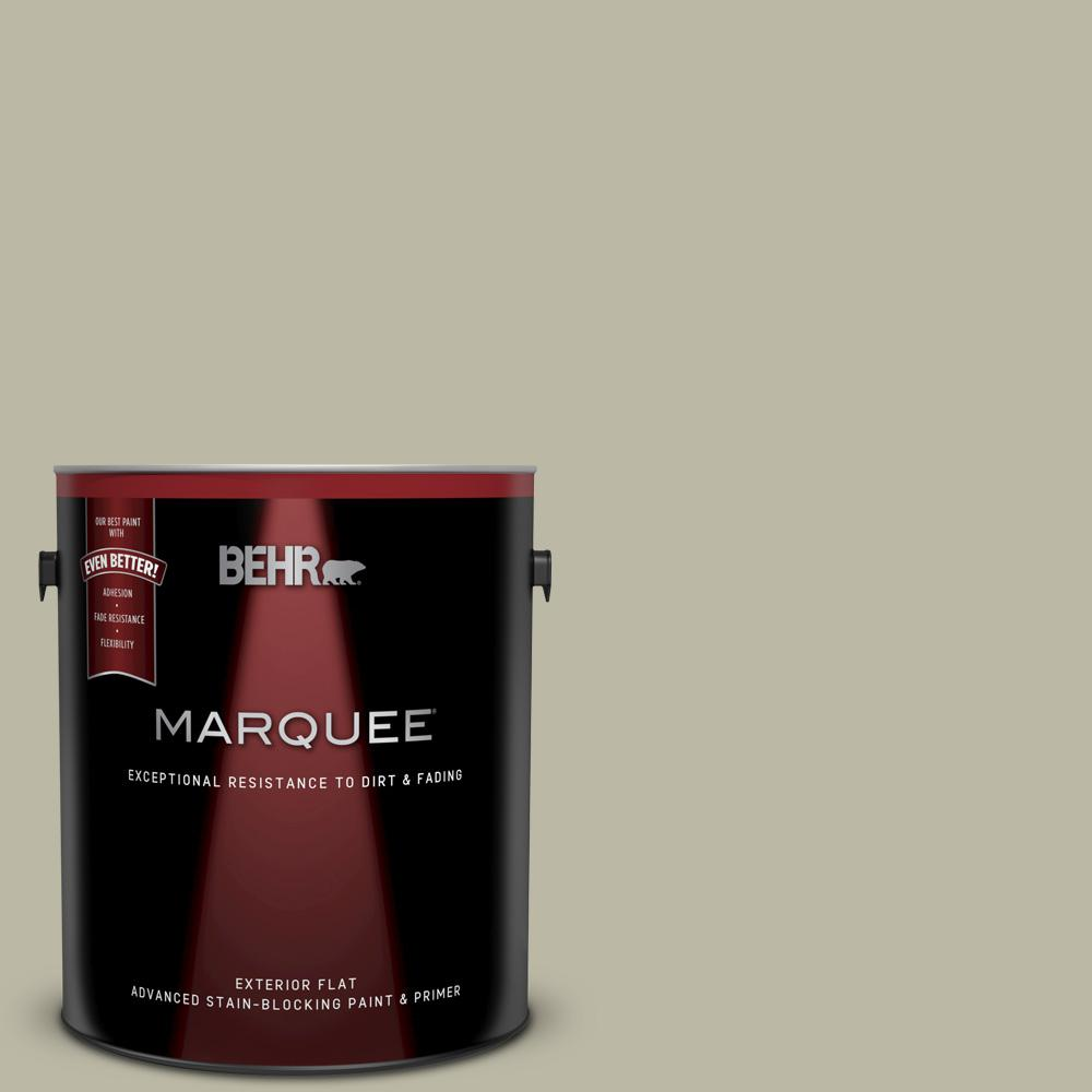 Behr Marquee 1 Gal 400f 4 Restful Flat Exterior Paint And Primer