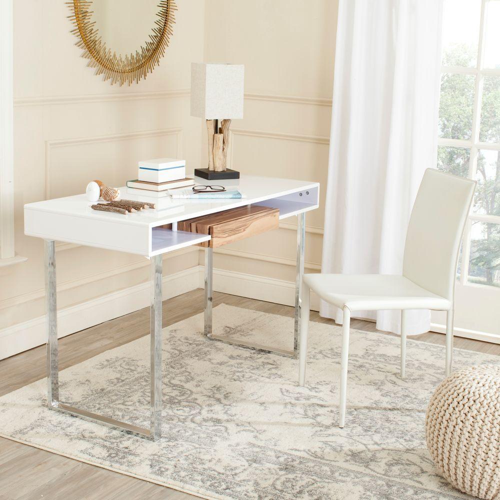 Metropolitan White and Chrome Desk