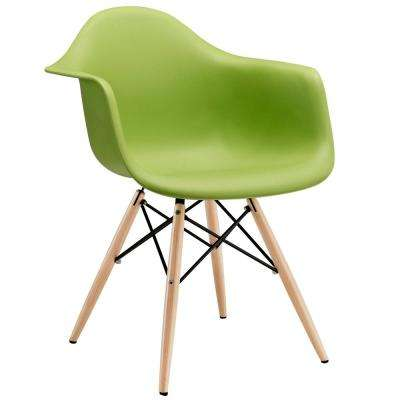 Pyramid Green Dining Arm Chair