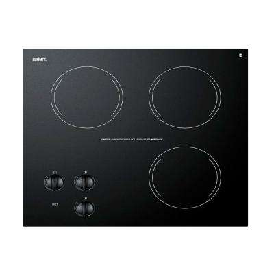 21 in. Radiant Electric Cooktop in Black with 3 Elements