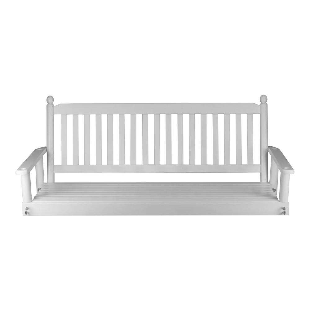 White 5 Ft Patio Swing 205psw Rta