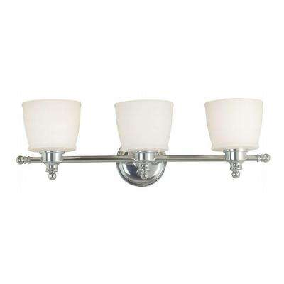 Riley 3-Light Chrome Wall Vanity