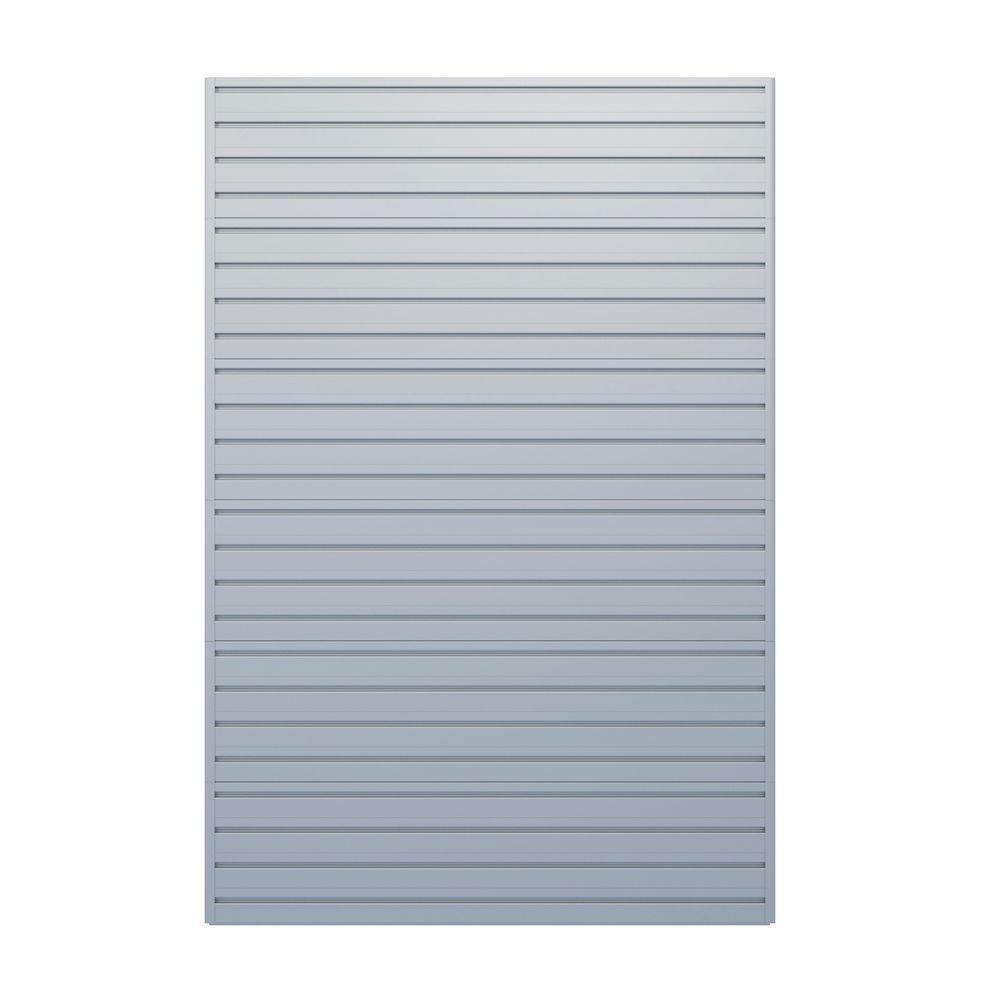 Flow Wall Modular Garage Wall Storage Panels in Silver