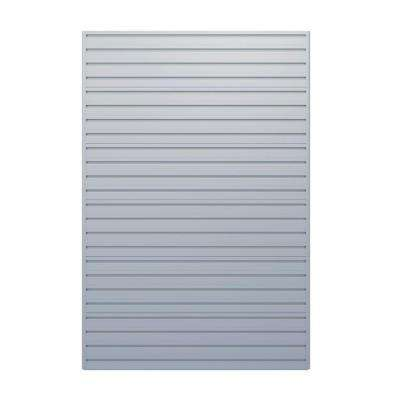 Modular Garage Wall Storage Panels in Silver
