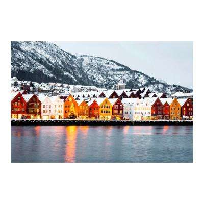 "47 in. x 32 in. ""Winter Row"" Tempered Glass Wall Art"