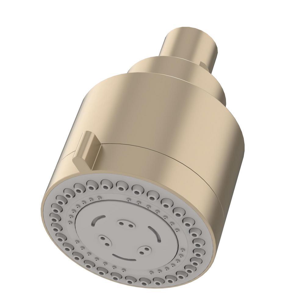 Dia 3-Spray 3 in. Fixed Showerhead in Satin Nickel