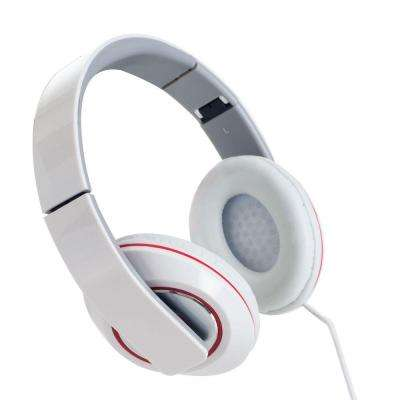 Stereo Bass Foldable Headphones - White