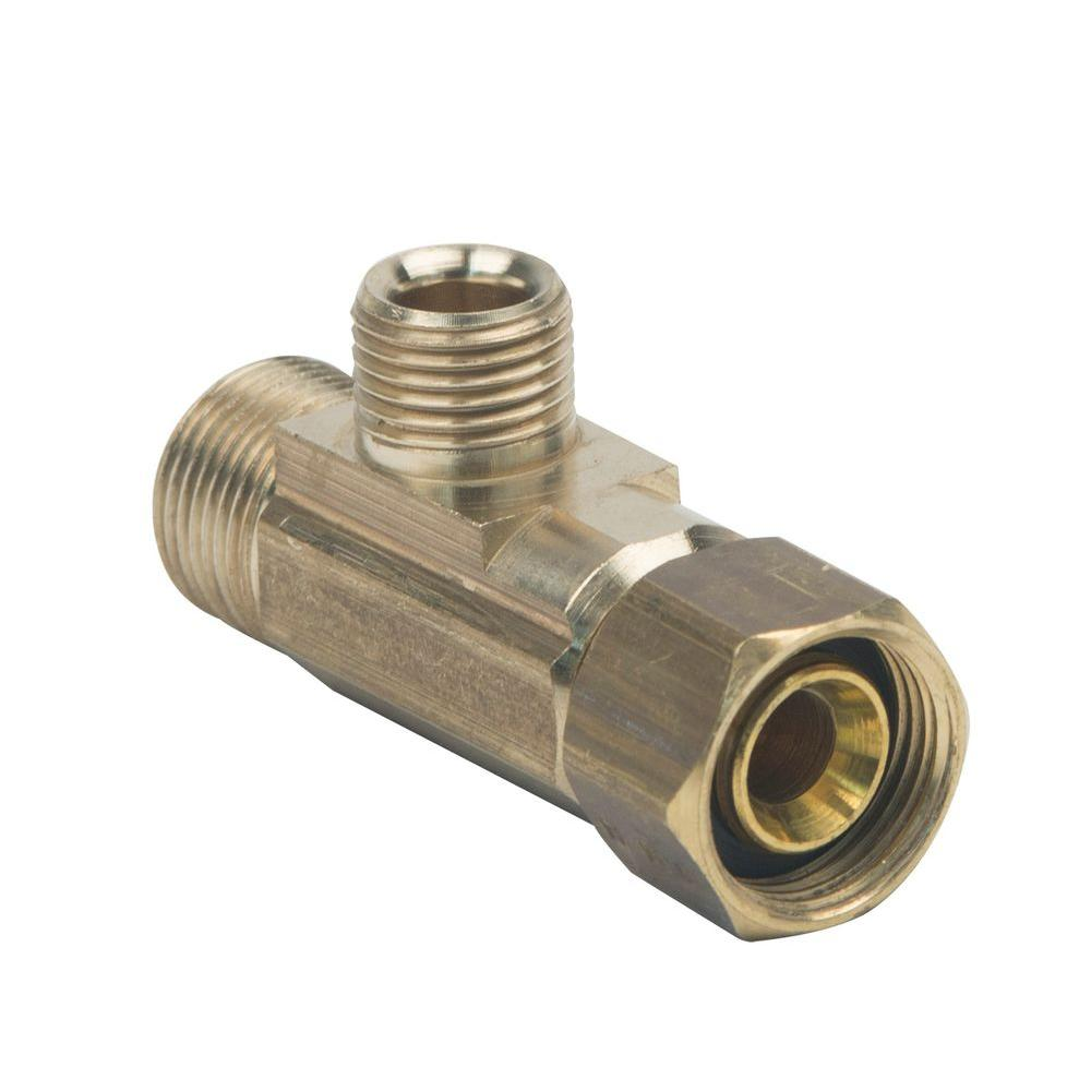 Push-On T Fitting 1//4 M NPT 1//4 O.D Tubing