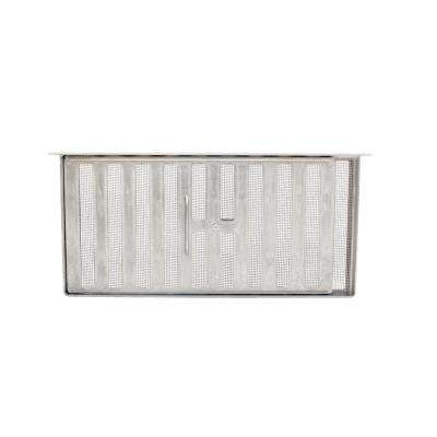 16 in. x 8 in. Aluminum Metal Slider Manual Foundation Vent with Lintel in Mill (Carton of 12)