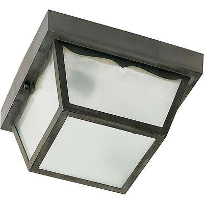 Tony Black 1-Light Outdoor Flush Mount