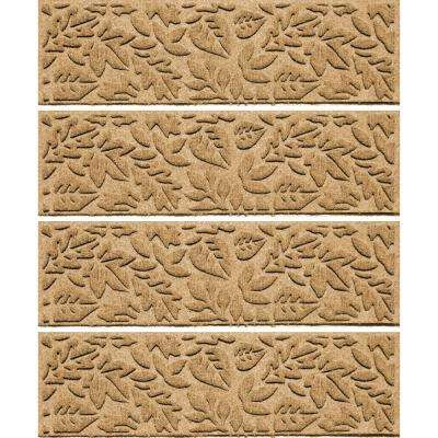 Gold 8.5 in. x 30 in. Fall Day Stair Tread Cover (Set of 4)