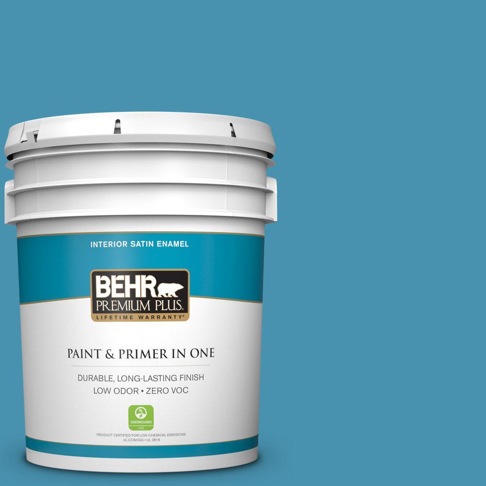 BEHR Premium Plus 5-gal. #M490-5 Jet Ski Satin Enamel Interior Paint