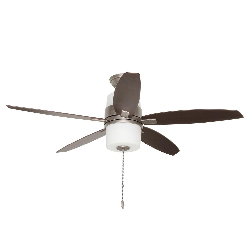 Domino 52 in. Indoor Antique Pewter Ceiling Fan with Light