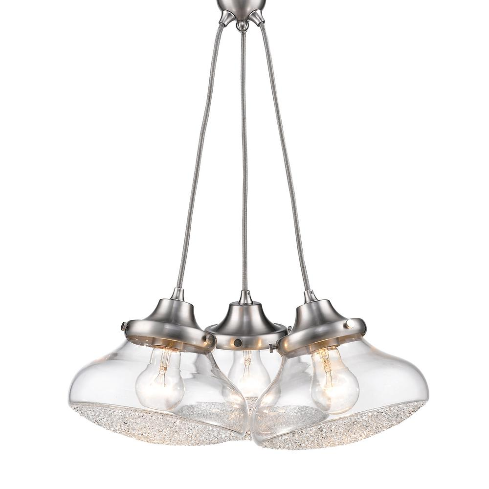 Asha 3-Light Pewter Pendant Light