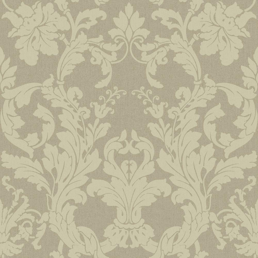 Acanthus Light Taupe Wallpaper