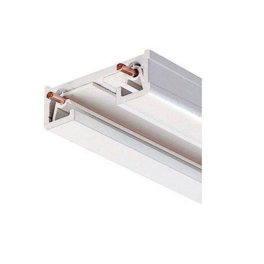Juno 4 ft. White Track Lighting Section  sc 1 st  Home Depot & Juno 4 ft. White Track Lighting Section-R 4FT WH - The Home Depot