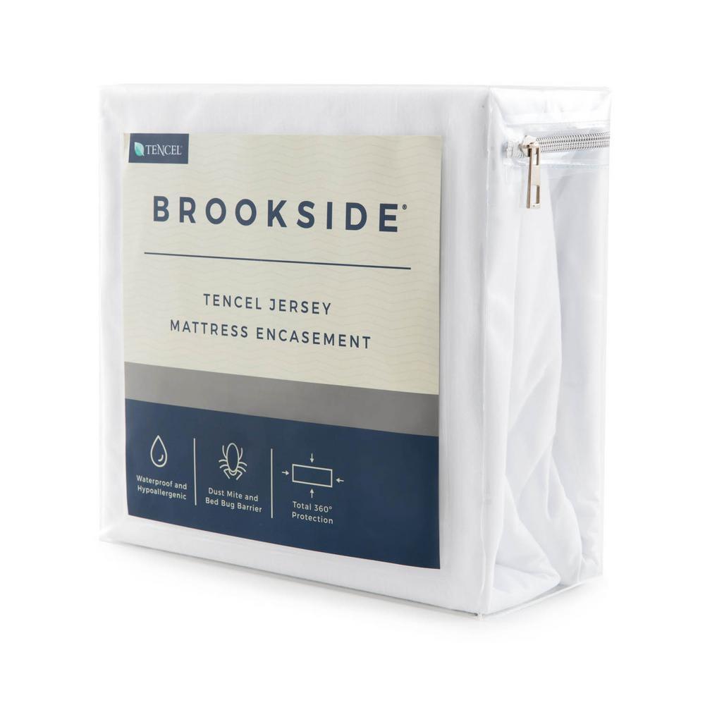 Tencel Jersey Polyester Fabric Encasement Queen Mattress Protector