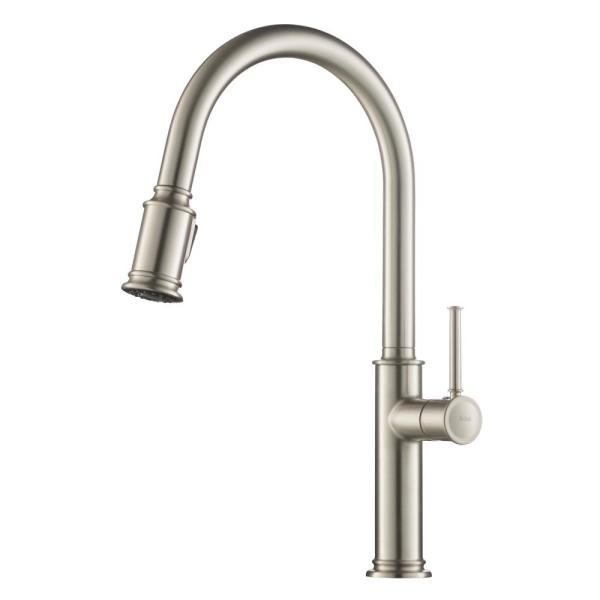 Sellette Single-Handle Pull-Down Sprayer Kitchen Faucet with Dual Function Sprayhead in Spot Free Stainless Steel