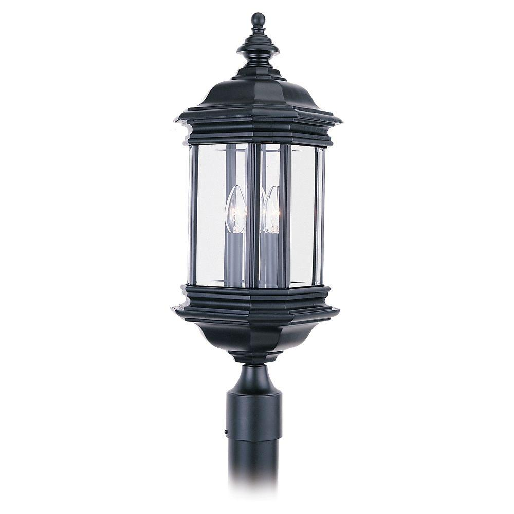 Sea Gull Lighting Hill Gate 3 Light Outdoor Black Post Top