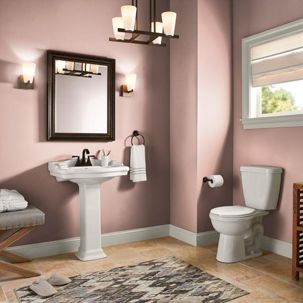 Reviews For Behr Premium Plus 1 Gal Pmd 70 Cottage Rose Satin Enamel Low Odor Interior Paint And Primer In One 705001 The Home Depot