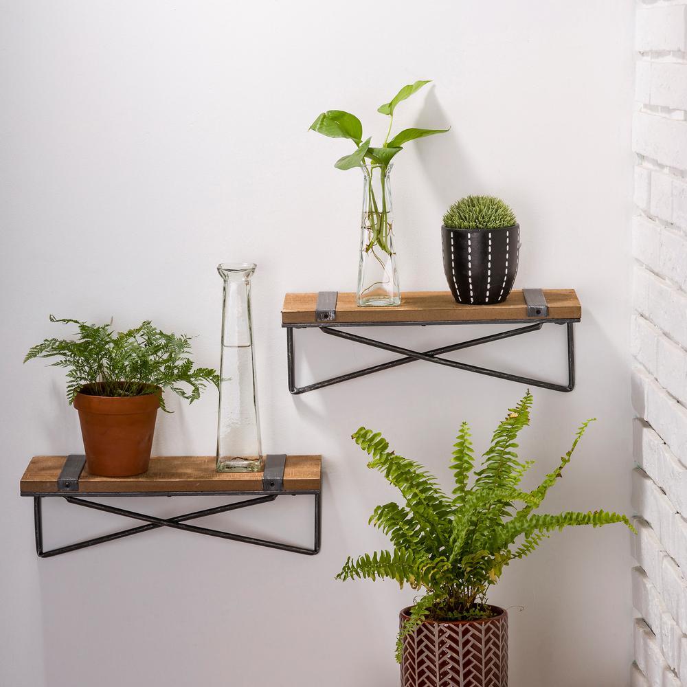Aqua Metal Wrapped Shelves