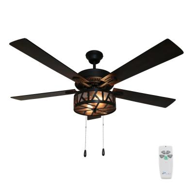 Regal 52 in. Oil Rubbed Bronze Caged Ceiling Fan with Light