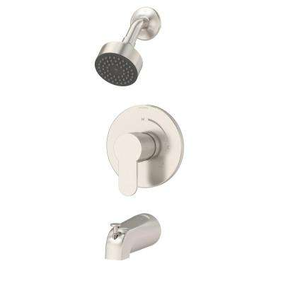 Identity Single-Handle 1-Spray Tub and Shower Faucet in Satin Nickel (Valve Included)