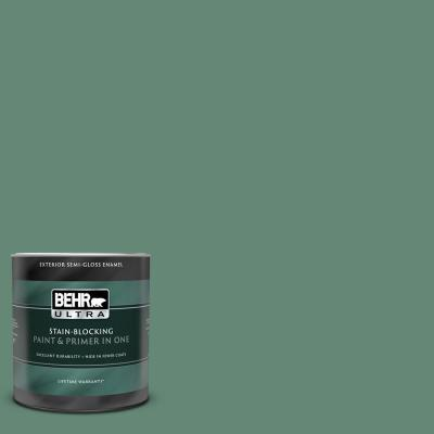 1 qt. #PPF-35 Green Adirondack Semi-Gloss Enamel Exterior Paint and Primer in One