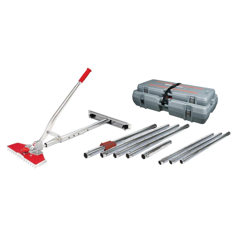 carpet stretcher. roberts junior power carpet stretcher value kit with case and 38 ft. stretching length-10-237v - the home depot
