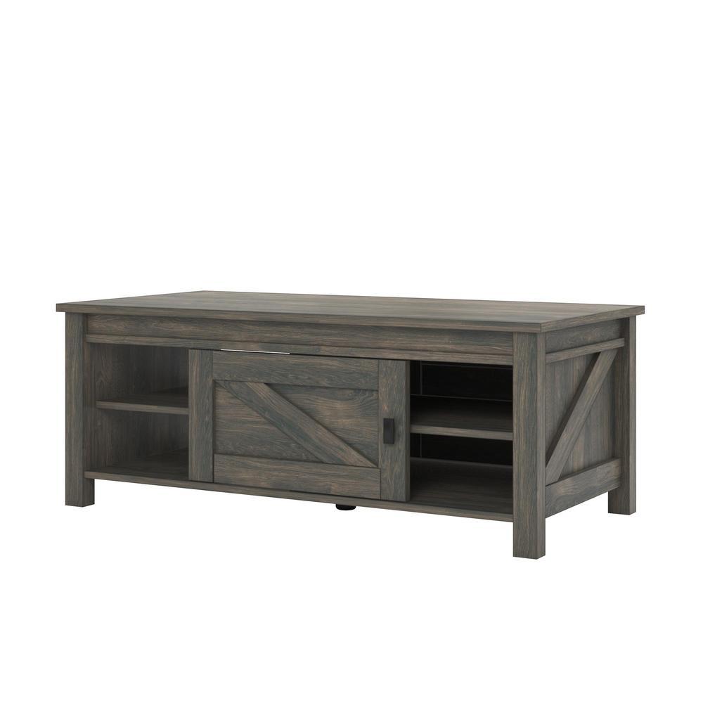 Ameriwood Home Brownwood Weathered Oak Storage Coffee Table