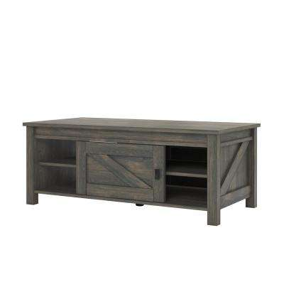 Brownwood Weathered Oak Storage Coffee Table