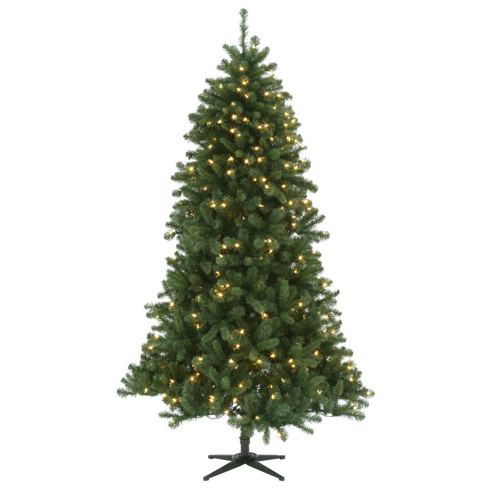 7.5 ft. Pre-Lit LED Grand Duchess Pine Quick Set Artificial Christmas