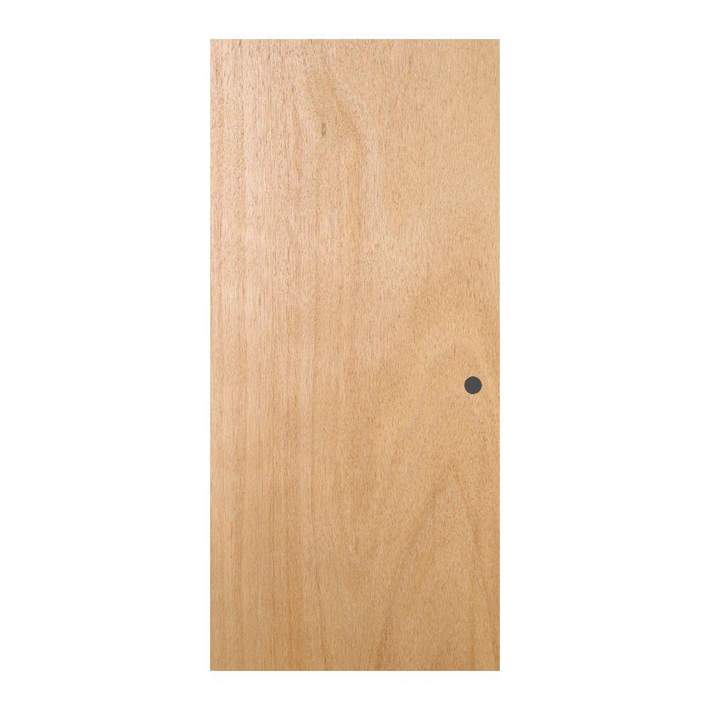 Jeld Wen 28 In X 78 In Unfinished Flush Hardwood Interior Door Slab