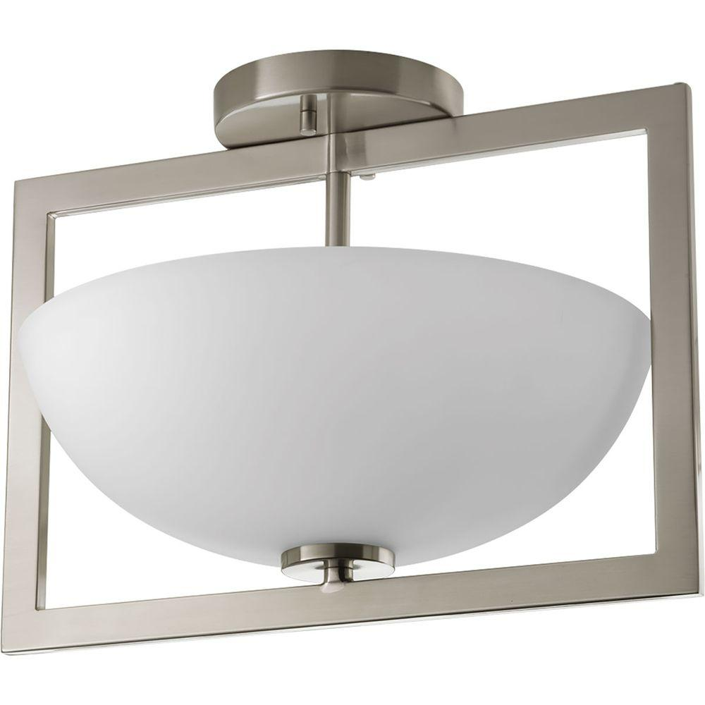 progress lighting harmony collection 2 light brushed nickel semi
