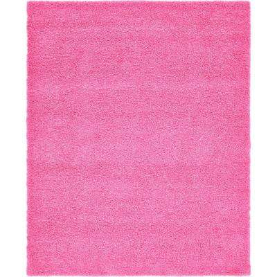 solid shag taffy pink 8 ft x 10 ft rug