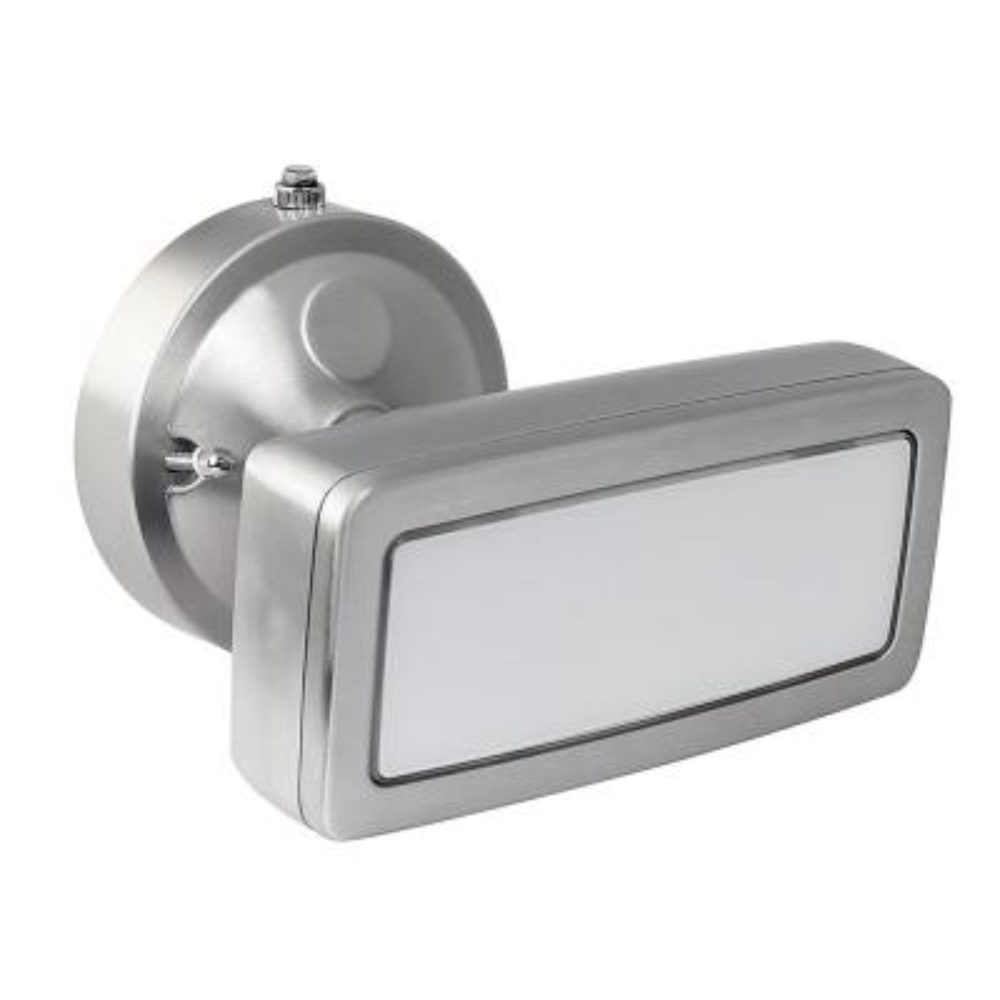36 Watt Stainless Outdoor Security Single Head Dusk to Dawn Photocell Sensor Integrated LED Flood Light