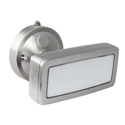 36-Watt Stainless Outdoor Integrated LED Single Head Flood Light with Dusk to Dawn Photocell