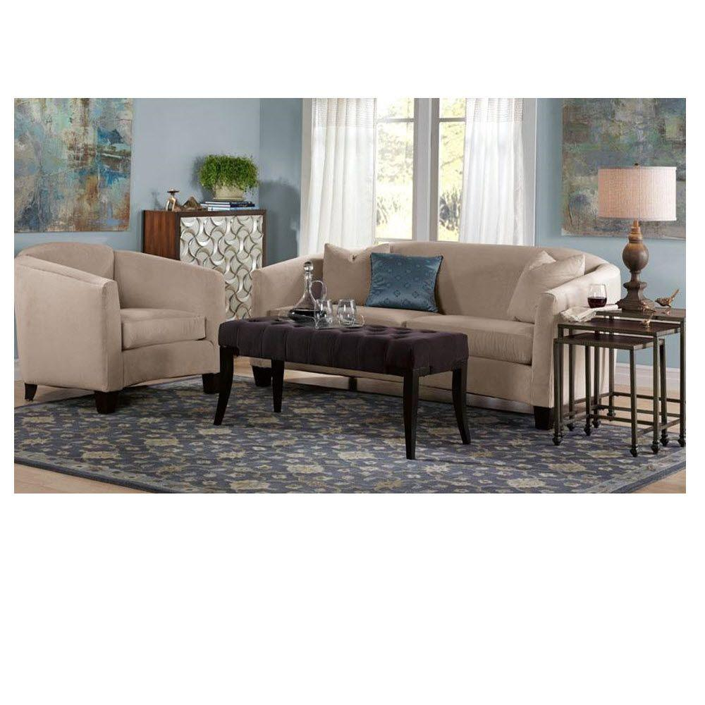 Home Decorators Collection Hammond 21 in. H Moleskin Bench in Brown