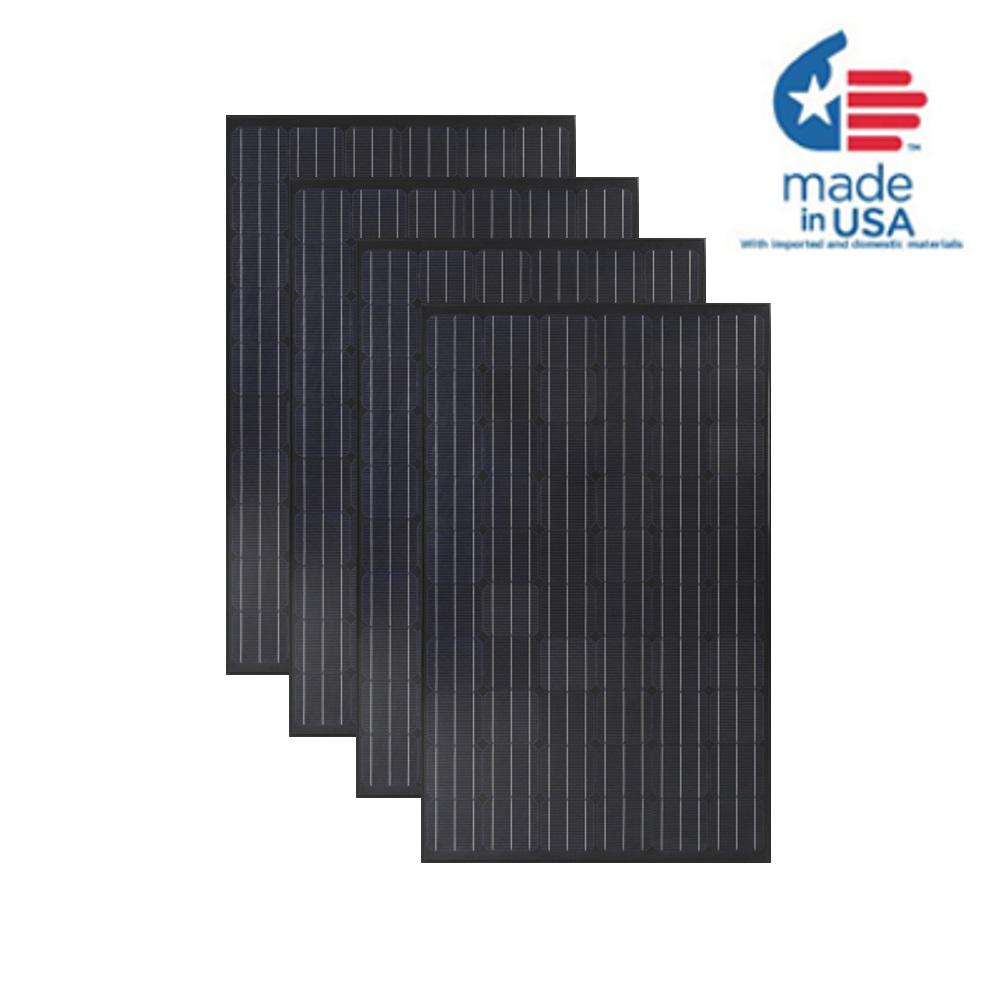 Grape Solar 300-Watt Monocrystalline Solar Panel (4-Pack)